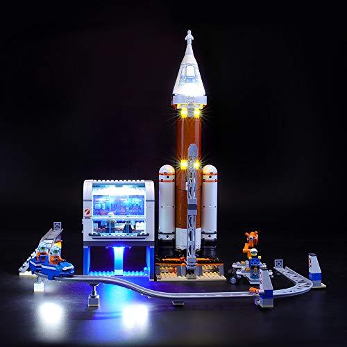 BRIKSMAX Led Beleuchtungsset für Lego City Weltraumrakete mit Kontrollzentrum,Kompatibel Mit Lego 60228 Bausteinen Modell - Ohne Lego Set