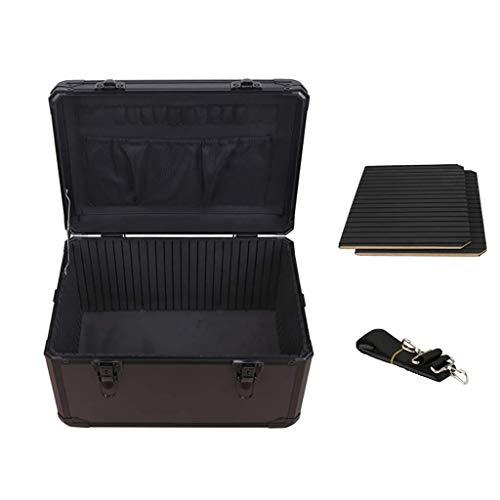 XBSXP Estuche rígido pequeño para Equipos, Estuche portátil para Herramientas, maletín, Estuche de Almacenamiento, Estuches de Transporte con Cerradura para el Lugar de Trabajo y la fami