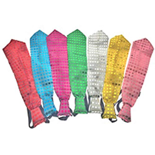 fish LED Party LED Rave 33cm Led Krawatte Helloween/Hochzeit/Geburtstag/Weihnachten Dekoration Blinken/Licht Krawatte Glow Party Supplies 10pcs, Multi