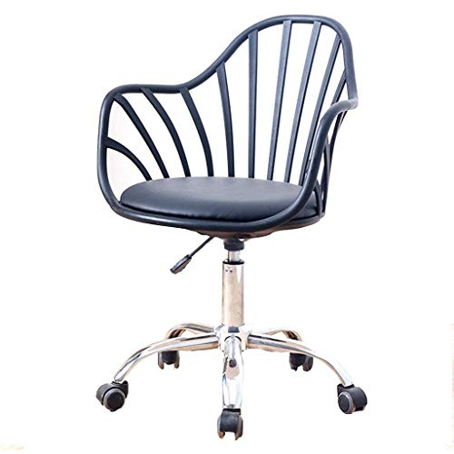 Silla Simple/Silla de Oficina Creativa/Silla de Oficina, ergonomía compuesta, Color Opcional (Blanco/Negro), Adecuado para Trabajadores de Oficina, 84 cm x 56 cm x 58 cm