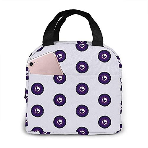 Circle Of Patterns Tragbare isolierte Lunchbox Wasserdichte Tote Bento Bag für Büro Wandern Strand Picknick