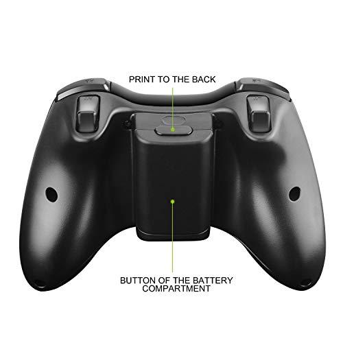 JAMSWALL 2,4 GHz Wireless Controller für Xbox 360, Xbox 360 Wireless Controller mit Empfänger, Dual-Vibration Verbessertes ergonomisches Design Gamepad Joystick für Xbox 360 /PS3 /PC Windows7 / 8/10