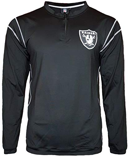 NFL Oakland Raiders Poly Stretch Longsleeve 1/4 Zip Top (XS)