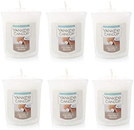 Yanke Great interest Candle Coconut Safety and trust Beach Votive 1.75 Oz. 6 of Pack