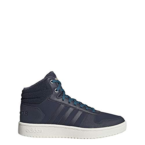 adidas Damen Hoops 2.0 Mid Basketballschuhe, Blau (Trace Blue F17/Trace Blue F17/Active Teal), 36 2/3 EU (4 UK)