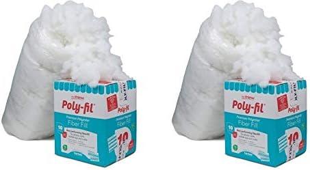 Fairfield 10 Pound Poly Fil Premium Polyester Fiber White Smooth Consistency 10 Pound 10 Pound product image