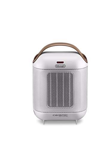 De'Longhi HFX30C18.IW Keramik-Heizgerät | Mobile Heizung für schnelle und punktuelle Wärmeversorgung | 2 Leistungsstufen | Anti-Frost-Funktion | 1.800 W Leistung | Weiß