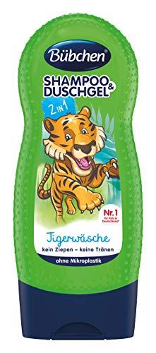 Bübchen Tigerwäsche Kinder-Shampoo & Duschgel, pH-hautneutral, 1er Pack (1 x 230ml)