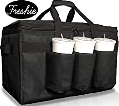 ✅𝗟𝗔𝗥𝗚𝗘 𝗧𝗛𝗘𝗥𝗠𝗔𝗟 𝗖𝗨𝗣 𝗛𝗢𝗟𝗗𝗘𝗥𝗦 - Fit bottles, cups, containers, beer and more in holders that will keep your drink hot or cold. No separate caddy needed for this all-in-one bag! Carry your food and drink in one hand! ✅𝗪𝗔𝗥𝗠 𝗔𝗡𝗗 𝗖𝗢𝗟𝗗 𝗜𝗡𝗦𝗨𝗟𝗔𝗧𝗜𝗢𝗡 - Polyethyl...