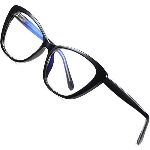 ATTCL Damen blaulichtfilter brille Cateye computerbrille zum Blockieren von UV-Kopfschmerz [Augenbelastung Reduzieren] Gaming Brillen(Herren/Damen) 2004 Black