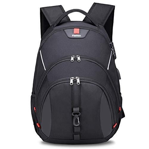 Breold Mochila para ordenador portátil de 17,3 pulgadas, antirrobo, resistente al agua, mochila escolar para niños y adolescentes, con puerto de carga USB para la escuela o el trabajo
