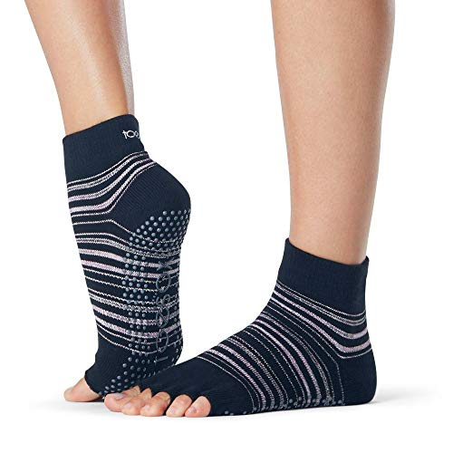ToeSox - Calcetines sin dedos - Ideales para yoga, pilates, danza, o actividades que se practiquen con los pies desnudos  Earthly S
