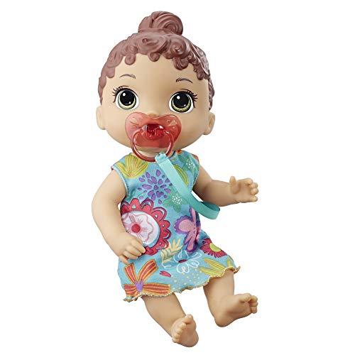 Baby Alive Süßes Schnullerbaby, interaktive Babypuppe, braunhaarig