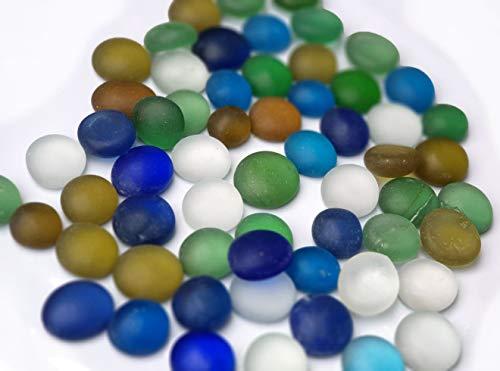 MSM Decorative Glass Stones Pebbles Matt Colour Gems for Accents and Crafting Outdoor Stones Pot Vase Toppers Home Garden Aquarium Gravel Beats (250gm/500gm/1kg) (250gm)