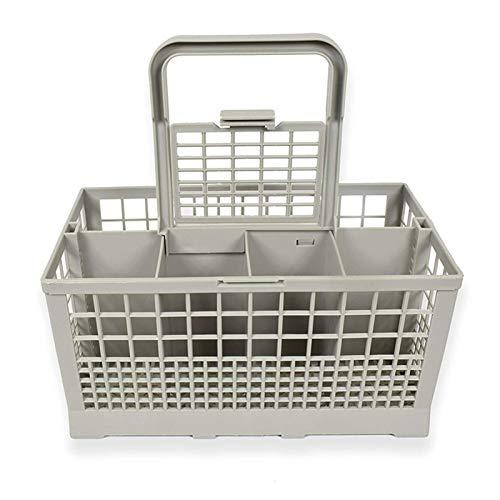 JZYLOVE JINZHIYANG Gris 8 Emplacement Lave-Vaisselle Couverts Panier Plateau Cage for Hotpoint & Indesit Machines de Cuisine Lave-Vaisselle Organisateur de Portefeuille