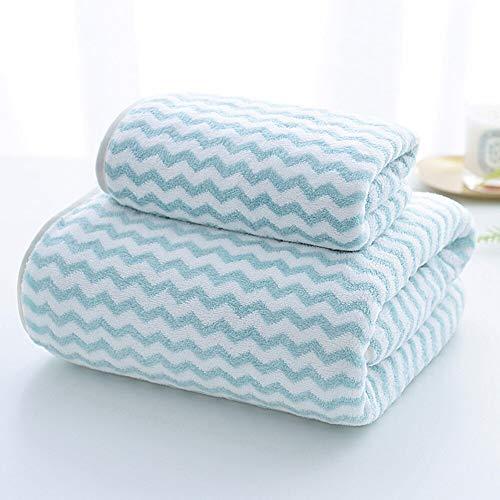 conjunto de toallas de baño de 2 piezas conjunto de toallas de baño Superfina fibra suave absorbente toalla adultos niños toalla de baño conjunto de deportes al aire libre toalla de playa