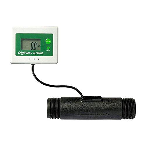 vyair 3,0 à 100,0 litres/Minute (0,8 à 26,4 gallons/Minute) DigiFlow 6710M-88 Totalisateur numérique de microdébit (Count Up) et débitmètre avec raccords 1\