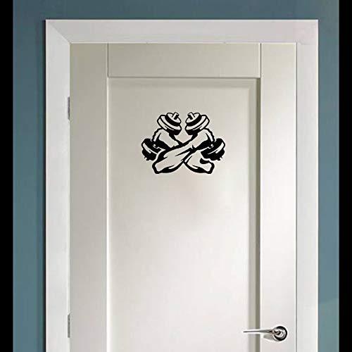 Etiqueta Engomada De La Pared De Las Mancuernas De La Aptitud Decoración Del Dormitorio De La Etiqueta De La Puerta Del Gimnasio En Casa
