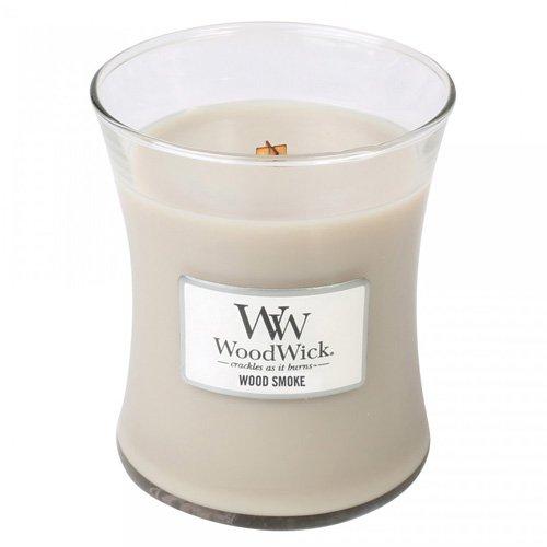 WoodWick 92075 Bougie dans Vase Ovale/Verre Multicolore 10 x 9,8 x 11,9 cm