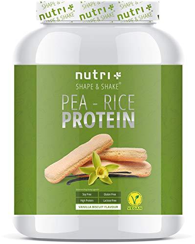 Erbsenproteinpulver - Vanilla Biscuit 1kg - Reiseiweißpulver ohne Soja, Lactose, Gluten & Milch - Eiweiß Pulver Vegan Vanille Biskuit - mit Erbsen-Protein aus deutschem Anbau