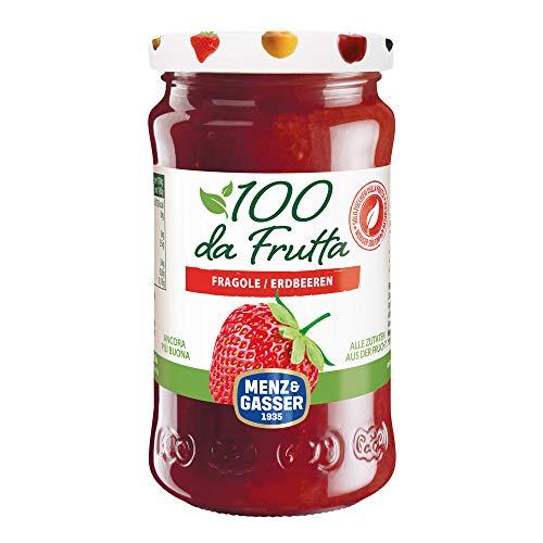 MENZ&GASSER Composta 100Dafrutta Fragola, 100% Frutta, 1 Vaso X 240G - 240 gr