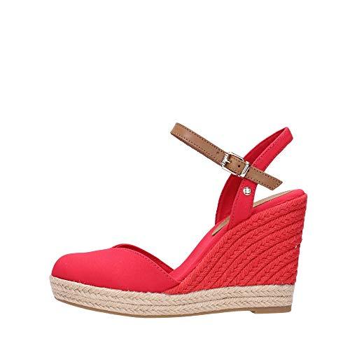 Tommy Hilfiger Fw0fw04786 - Sandalias para mujer, color rojo