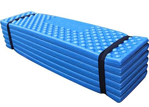 Manta de Picnic Acampar al Aire Libre Ultraligero Mat Estera de la Espuma de Picnic Impermeable Viaje Estera Que acampa Plegable Colchón Beach Pad Mat Carpa de albergue (Color : Blue)