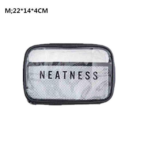 OYHBGK 1 Pc Cosmétique PVC Casual Zipper Maquillage Cas Organisateur De Voyage Pochette De Rangement Trousse De Toilette Beauty Wash Kit Sacs