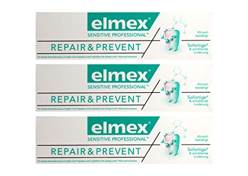 3x elmex SENSITIVE PROFESSIONAL REPAIR & PREVENT Zahnpasta 75ml Zahncreme