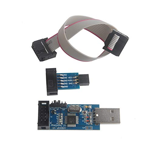 for ATMEL 51 AVR USB ISP ASP Microcontroller Programmer Downloader with Cable + 10Pin to 6Pin Adapter Board for Ender 3 or Ender 3 Pro Geekstory