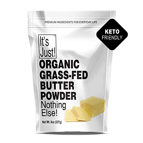 It's Just - Organic Butter Powder, Real Butter, Grass-Fed, Non-GMO, Made In USA, Keto Friendly, Shelf Stable (8oz)