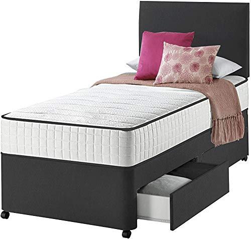 Cabecera con adultos y niños con un solo colchón de la cama sofá, ruedas y fácil de usar,Black