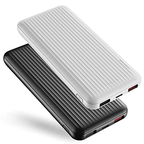 【2 Pack】Powerbank 10000mAh Carica Rapida,undreem USB C/A Caricatore Portatile PD 18W/QC 3.0,Ultra sottile Quick Charge PowerBank Type-C 3A,3 uscite Batteria esterna,Powerbank per,Samsung,Huawei
