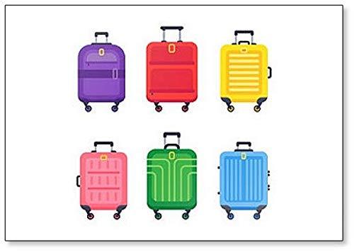 Gepäckkoffer Kühlschrankmagnet für Gepäck, Kunststoff, bunt, Motiv: Flughafen