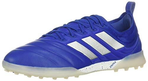 adidas Men's Copa 20.1 Turf Soccer Shoe, Royal Blue/Silver/Black, 13