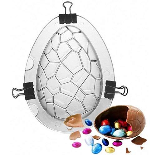 Lubudup Huevos de Pascua 3D Molde de Pastel de Chocolate Fondant Hornear Azúcar Artesanía Decoración Molde Pascua Molde para Hornear Decoración de Pascua, 13 * 9,8 cm