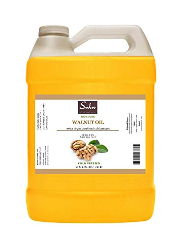 64 FL.OZ-100% Pure Extra Virgin Unrefined Cold Pressed Walnut Oil - DEEP GOLDEN-FRESH FLAVOR