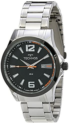 Relógio Technos, Pulseira de Aço Inoxidável, Masculino Prata 2115KNV/1P