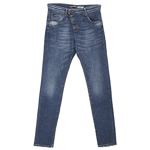 Please, Slim Fit deep Crotch, Damen Jeans Hose, Stretchdenim, Blue Denim, S Inch ca. 29 L 30 [19927]