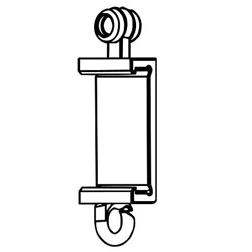 Clips Für Premium Paneelwagen mit den Maßen 25x2,5mm | Farbe weiß | zum Aufklipsen auf das Paneelwagenprofil (je Paar) (Rolle 4mm)