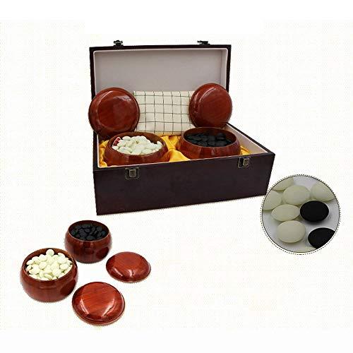 LULUVicky-Toys Go-Spiel Go Set Leder Go Board enthält Schüsseln und Bakelit-Steine 2-Spieler - klassisches chinesisches Strategie-Brettspiel Puzzle Brettspiel (Farbe, Größe : Einheitsgröße)