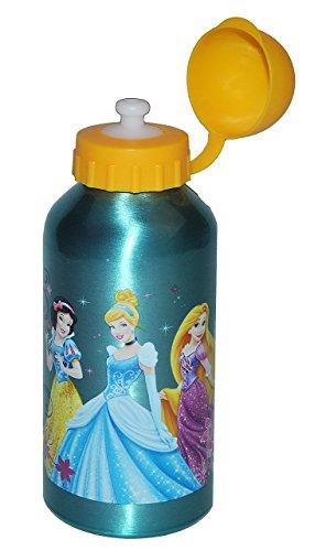Unbekannt Trinkflasche Disney Princess - Edelstahl / Aluminium 600 ml - auslaufsicher - für Kinder Aluflasche / Fahrradflasche - Flasche Mädchen Prinzessin Rapunzel Sch..