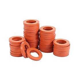 ZKZX Rondelle de tuyau d'arrosage en caoutchouc robuste, compatible avec tous les raccords de tuyau d'arrosage standard…