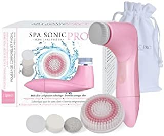Spa Sonic Pro 8-piece Facial Cleansing System (pink)