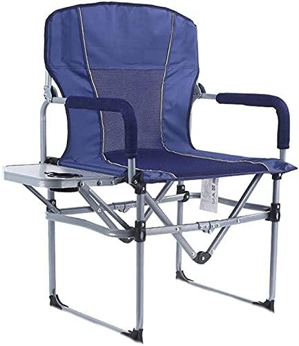 Johuaz, sedia pieghevole leggera da esterni, in alluminio, con tavolino e portabicchiere, supporto per carichi pesanti, 149,7 kg