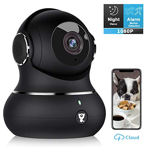 Indoor Wireless Security Camera, [2020 Newest] Littlelf Smart 1080P Home WiFi IP Camera for Pet/Baby/Elder Monitor with Motion Detection/Tracking, 2-Way Audio, Night Vision and Cloud Storage