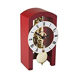 Hermle Patterson Mechanical Table Clock #23015360721, Red