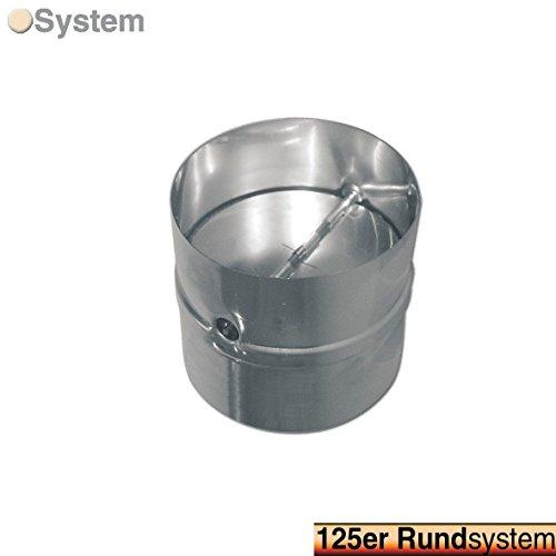 VIOKS Rückstauklappe Rückschlagklappe Einschub Verbindungsstück für Schläuche und Rohre Anschluss: 125mm für Dunstabzugshaube Klimagerät oder Trockner