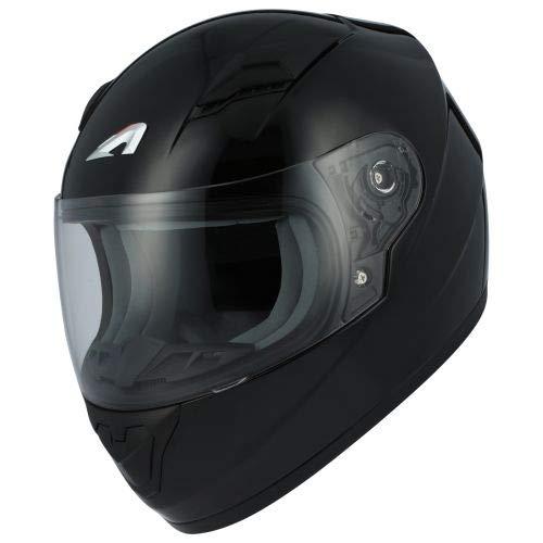 Astone Helmets - Casque moto GT2kid - Casque de moto homologué pour enfant - Casque intégral junior - Matt black S