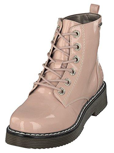bugatti Damen 431549325900 Kurzschaft Stiefel Stiefeletten, Pink (Rose 3400), 39 EU